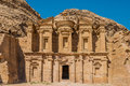 The monastery al deir nabatean petra jordan in middle east Stock Images