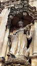 Monastery of alcobaça statue alcobaça portugal background Royalty Free Stock Photography