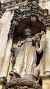 Monastery of alcobaça statue alcobaça portugal background Royalty Free Stock Photography