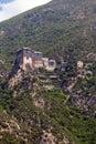 Monastery on athos mountain Stock Photography