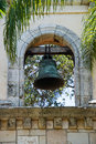Monastery bell an old at a spanish in south florida Stock Photos