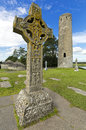 The monastery of Clonmacnoise, Ireland. Royalty Free Stock Photo