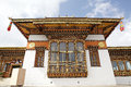 Monastery at the dochula pass bhutan architecture details and wooden decoration of druk wangyal lhakhang buddhist Royalty Free Stock Photo