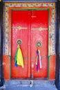 Monastery door in  Leh, Ladakh Royalty Free Stock Photo