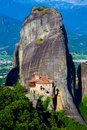 Monastery and the dramatic rock formation of  Meteora, Kastraki