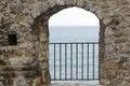 Monastery gate Royalty Free Stock Photo