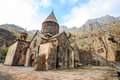 Monastery of Geghard in Armenia Royalty Free Stock Photo