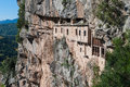 Monastery in greece the historic kipina th century built on a cliff of the tzoumerka mountains epirus Stock Photos