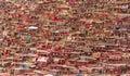 Monastery at Larung gar, Sichuan, China. Royalty Free Stock Photo