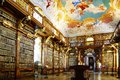 Monastery library in Melk Abbey Stock Image