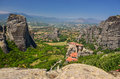 Monastery in metéora the mountains of greece Stock Images
