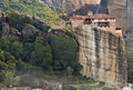 Monastery at Meteora in Greece Stock Image