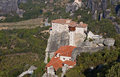 Monastery at Meteora in Greece Stock Photo