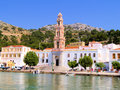 Monastery of panormitis the on the greek island symi Stock Photo