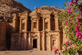 The monastery at petra jordan Royalty Free Stock Images