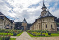 The monastery putna romania europe interior garden Royalty Free Stock Photo