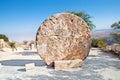 Monastery rolling stone door ,Mount Nebo, Jordan Royalty Free Stock Photo