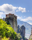 Monastery of Rousanou, Meteora, Greece Royalty Free Stock Photography