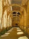 The monastery of San Pedro de Arlanza in Burgos Stock Photo