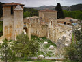 The monastery of San Pedro de Arlanza in Burgos Stock Photos