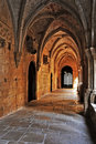 Monastery of Santa Maria de Poblet, Spain Stock Photos
