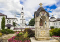 Monastery of st nicholas on the black isle in ancient russian city maloyaroslavets Royalty Free Stock Photos