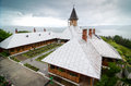 Monastery topview of st ana in orsova romania on a rainy day Stock Photo