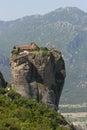 Monastery tower top rock meteora greece europe Royalty Free Stock Images