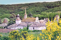 Monastery of valbonne in gard provencal france founded near saint paulet de caisson south historical monument Royalty Free Stock Photos