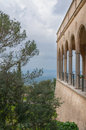 Monastery with vaults and pillars santuari de cura in randa majorca Stock Image