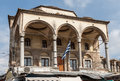 The monastiraki square the former convent now folks museum with its arches athens greece Stock Photography