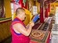 Monch in bon monastery Royalty Free Stock Photo