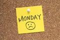 Monday sadness Royalty Free Stock Photo