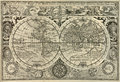 Monde antique de carte Images stock