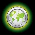 Monde d'écologie de bouton Photographie stock libre de droits
