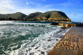 Mondello seascape. Island of Sicily Stock Images