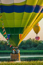 Mondial hot air ballon reunion in lorraine france chambley august august chambley Royalty Free Stock Image