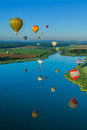 Mondial hot air ballon reunion in lorraine france chambley august august chambley Stock Photos
