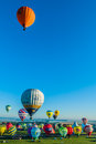 Mondial hot air ballon reunion in lorraine france chambley july july chambley Stock Image