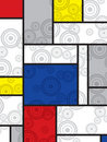 Mondrian goes retro print Royalty Free Stock Images