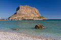 Monemvasia rock the of historic peloponnese greece Royalty Free Stock Image