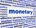 Monetary business words poster Royalty Free Stock Photo