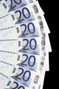 Money - 20 Euro Notes Detail Stock Photo