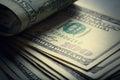 Money american bills the hundred dollar Stock Photography