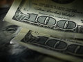 Money american hundred dollar bills background with Stock Photos