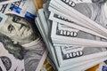 money american hundred dollar bills Royalty Free Stock Photo