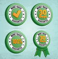 Money back guarantee badges d with text eps Royalty Free Stock Photos
