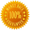 Money back guarantee gold star Royalty Free Stock Image