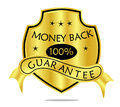 Money Back Guarantee Shield and Banner Stock Photo