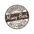 Money back guarantee stamp Royalty Free Stock Photo